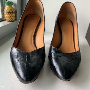 Sézane black croco heel 37 (7)